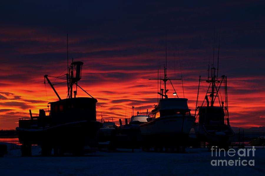 Sunset Photograph - Red Sky At Night by Rick  Monyahan