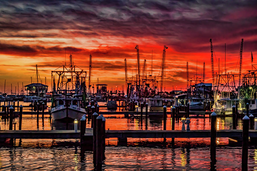 Red Sky at Night, Shrimpers Delight by JASawyer Imaging