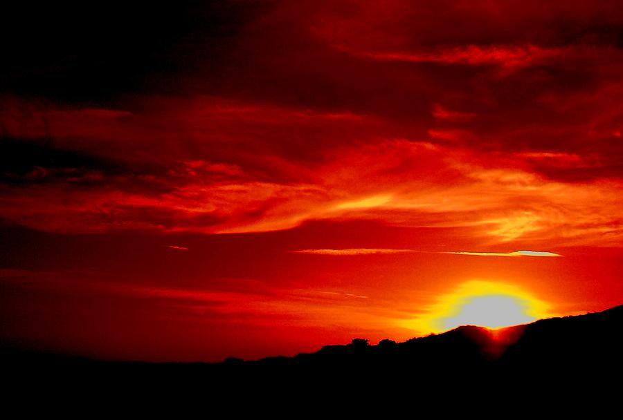 Red Sunsets Photograph - Red Skys Tonight by Douglas Kriezel