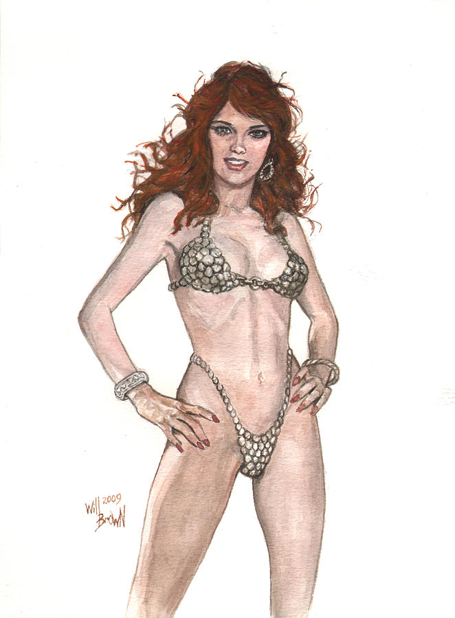 Red Sonja Painting - Red Sonja Pinup by Will Brown