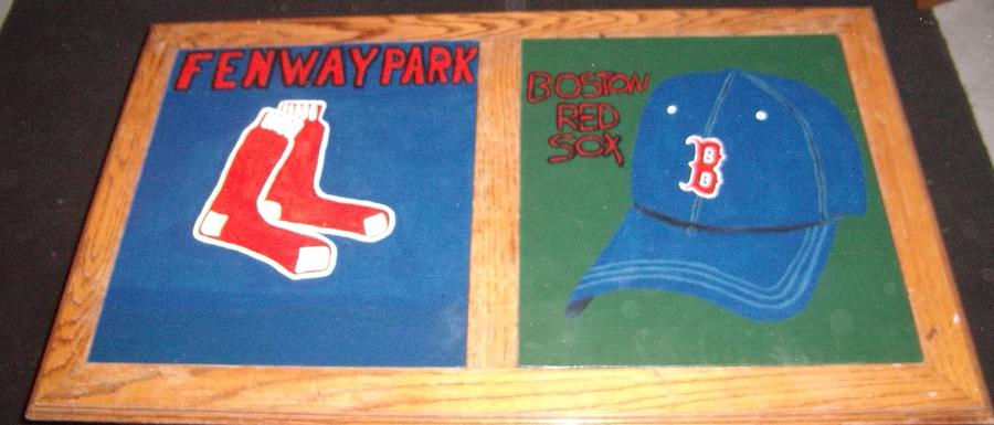 Red Sox Painting - Red Sox by Jason Slowe