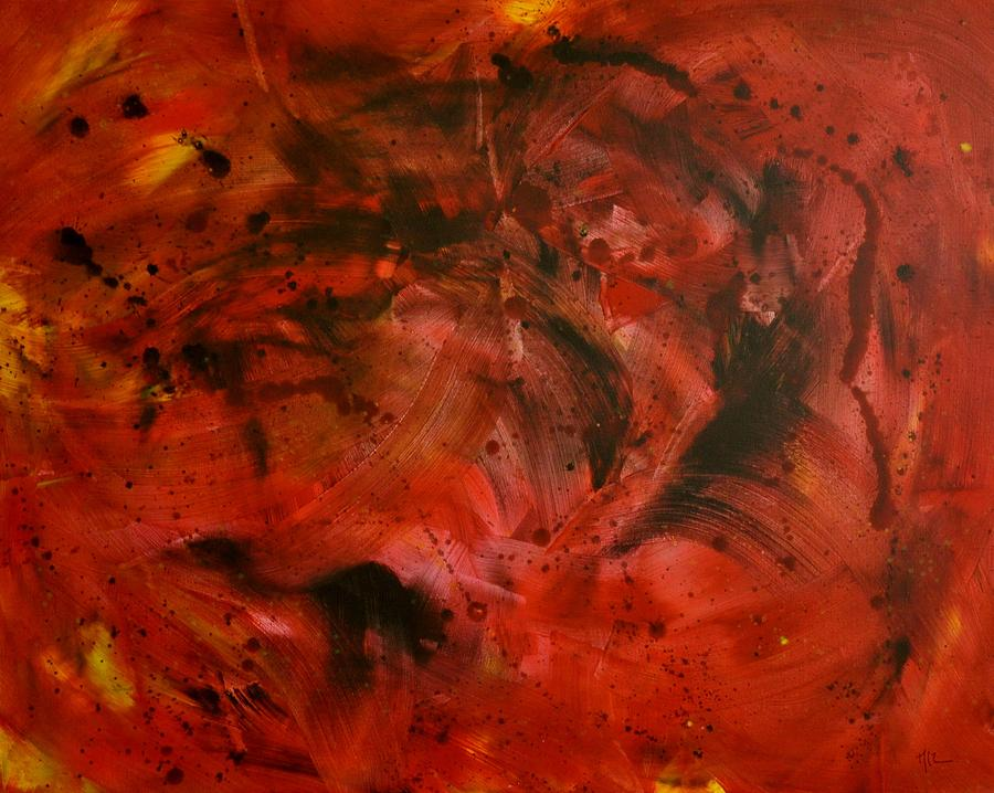 Red Painting - Red Space by Maria Laura Ortega