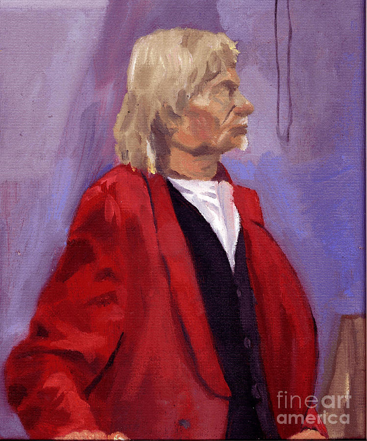 Male Painting - Red Sport Coat by Timothy Winiarski