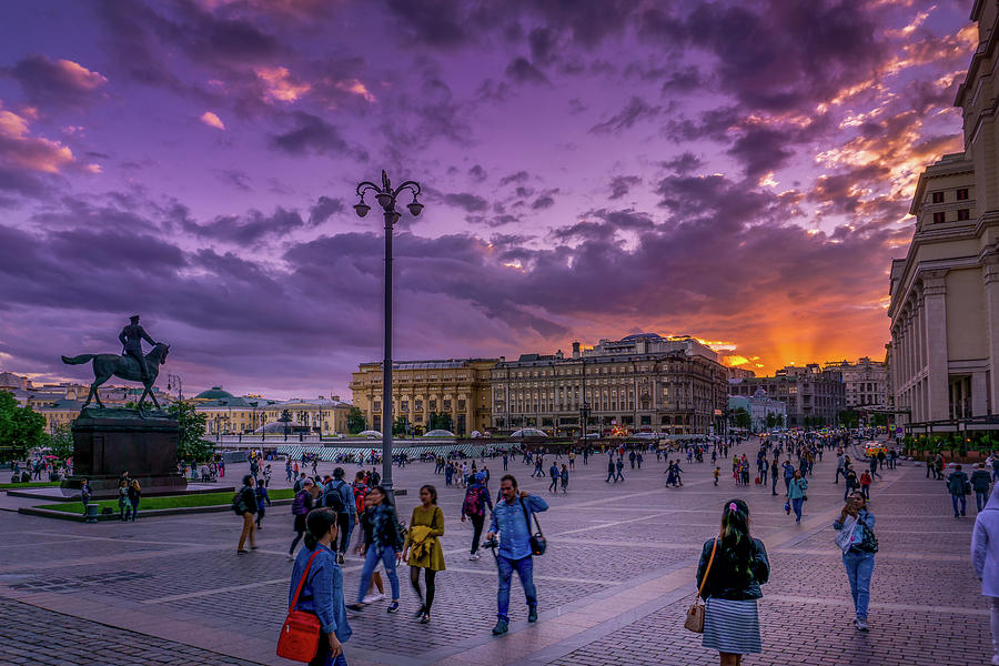 Red Square at Sunset by Boyce Fitzgerald