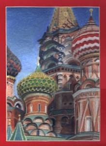 Moscow Painting - Red Square by Liz Konstantinov