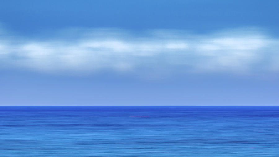 Sea Photograph - Red Line by Stelios Kleanthous