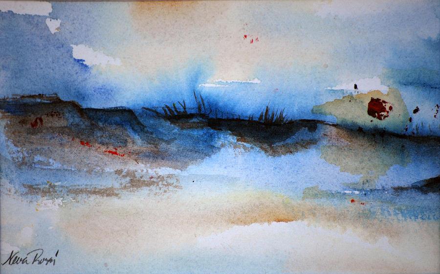 Beach Painting - Red Sun Beach by Neva Rossi