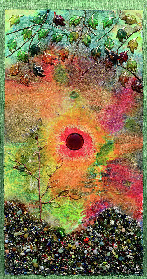 Red Sun Rising Mixed Media by Donna Blackhall