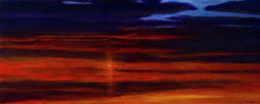 Red Sunset -West Mesa by Jack Atkins