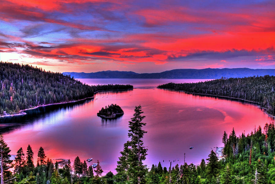 Lake Photograph - Red Tahoe by Scott Mahon