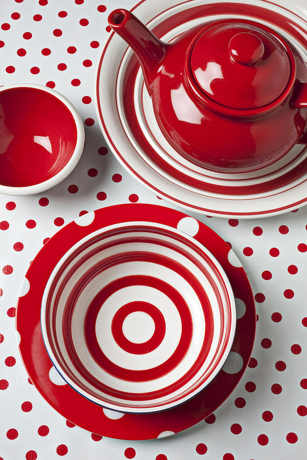 Bowls Photograph - Red Teapot by Garry Gay