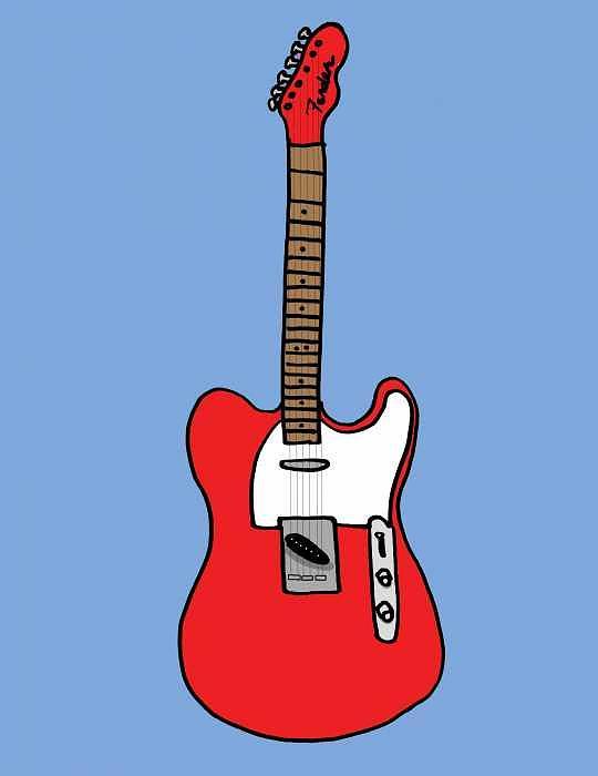 Guitar Digital Art - Red Tele by Kip  Lake