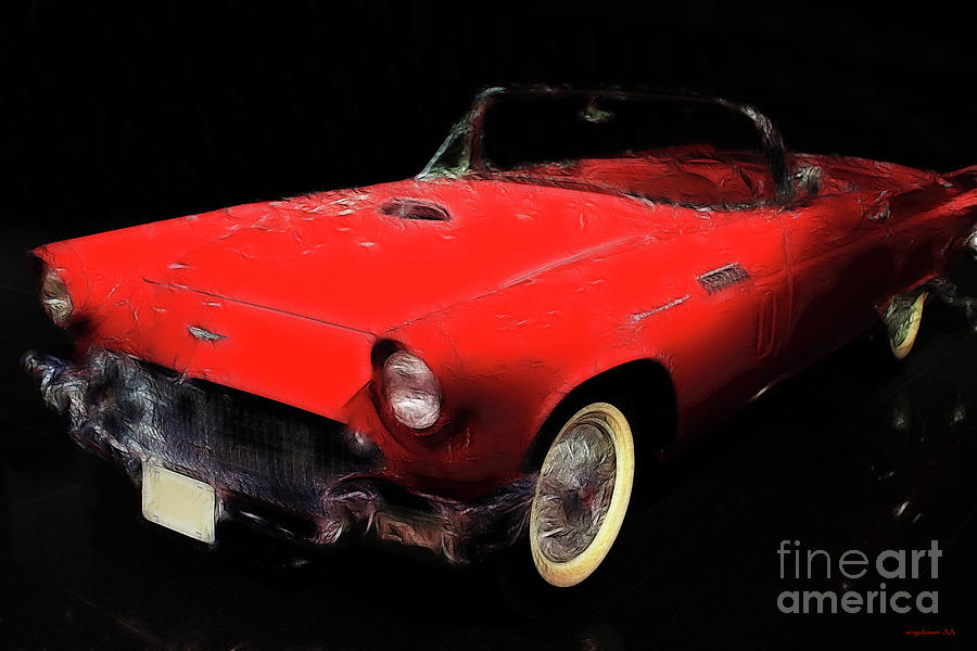 Ford Thunderbird Photograph - Red Thunder by Wingsdomain Art and Photography