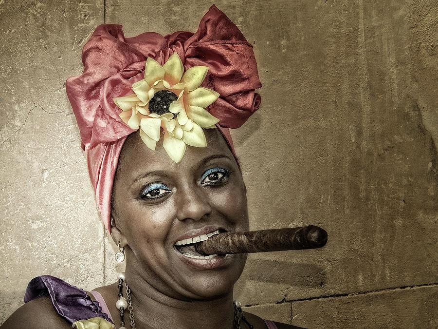 Cuba Photograph - Red Tignon by Heather Allen