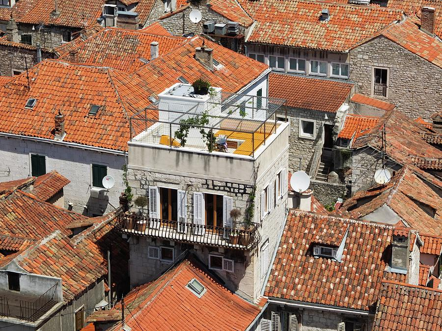 Roofs Photograph - Red Tiled Roofs by Olga Kurygina