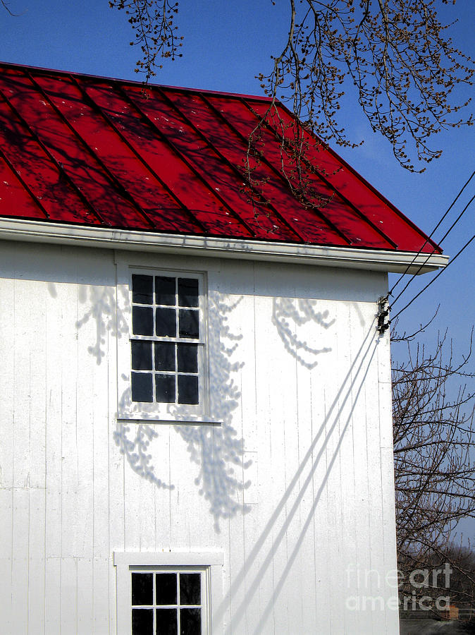 Red Tin Roof On White House Photograph By William Kuta