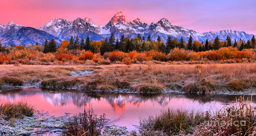 Grand Teton Photograph - Red Tip On The Grand by Adam Jewell
