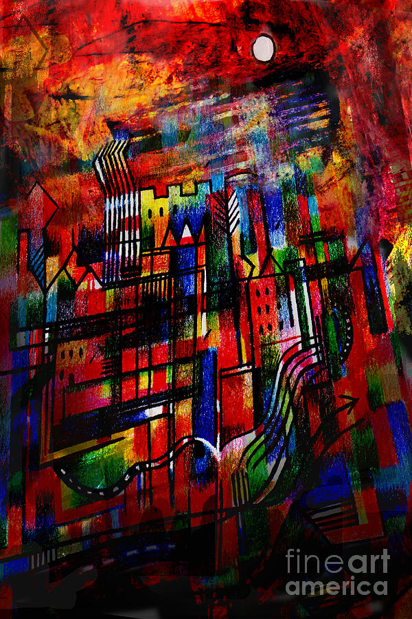 Red Town Painting - Red Town  by Andy  Mercer
