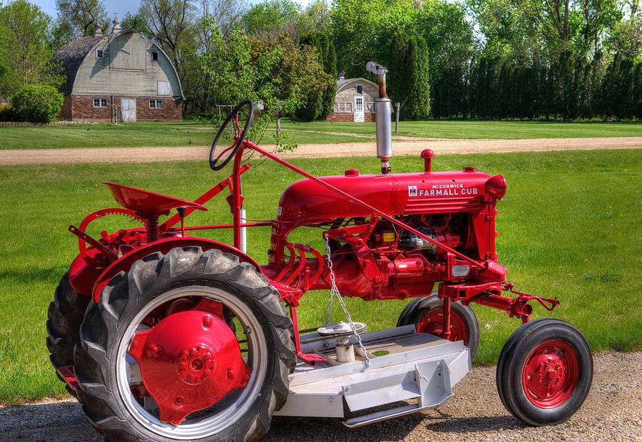 Red Tractor Photograph - Red Tractor  by Shane Mossman