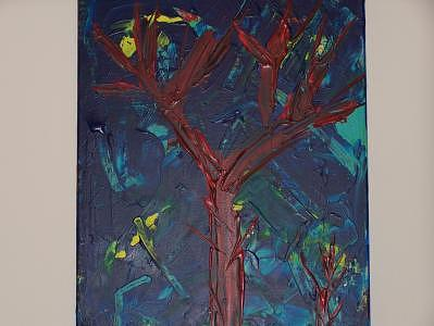 Red Trees Painting by Jodi Drinkwater