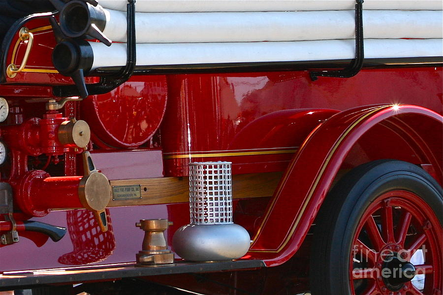 Fire Truck Photograph - Red Truck by Rick  Monyahan