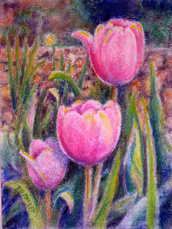 Floral Painting - Red Tulip Trio by Bill Meeker