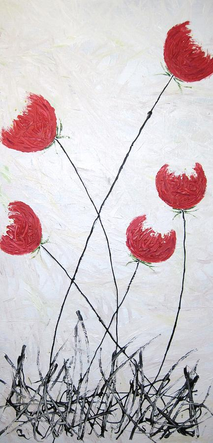 Flowers Painting - Red Tulips by Michele Leech And Victoria Mayorga