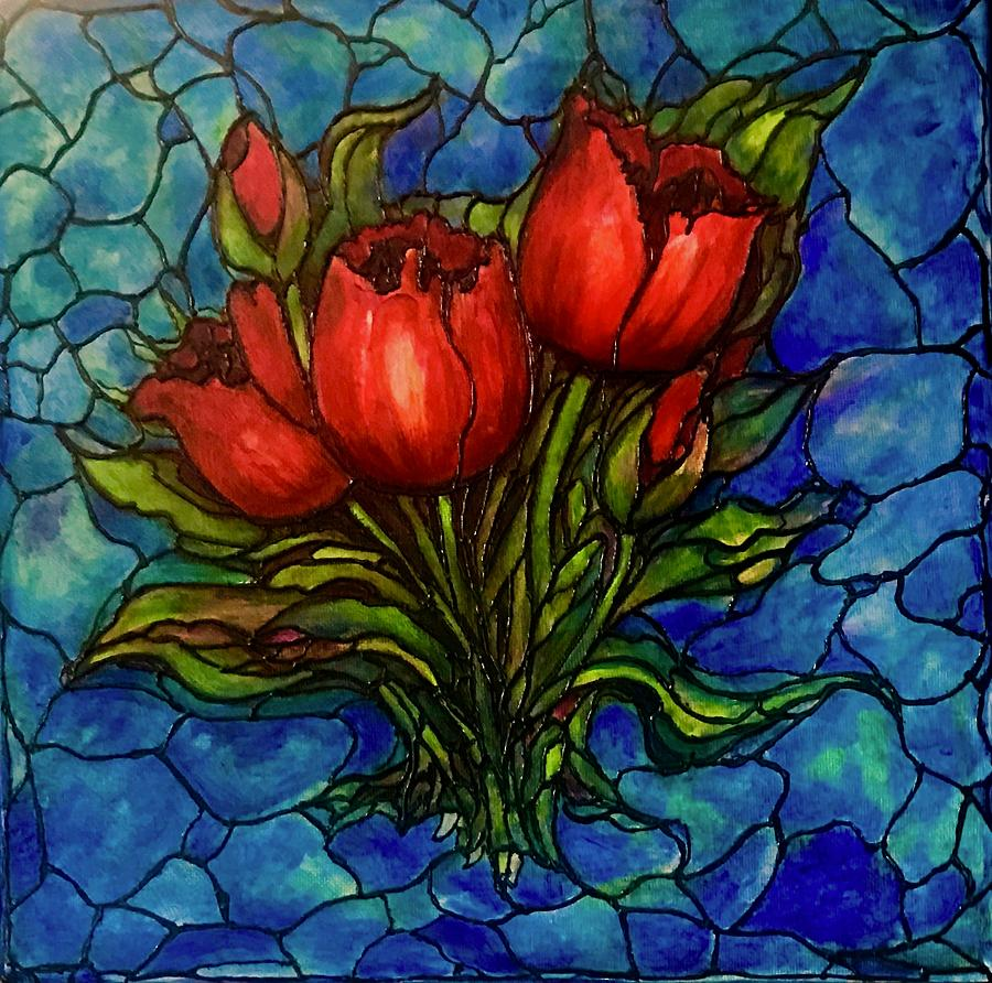 Red Tulips by Rae Chichilnitsky