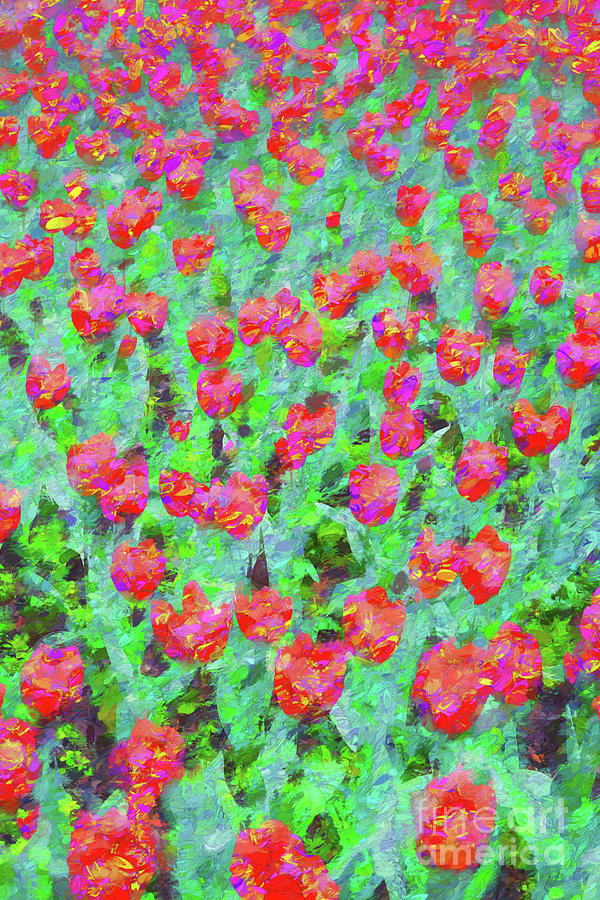 Impressionist Photograph - Red Tulips by Sheila Smart Fine Art Photography