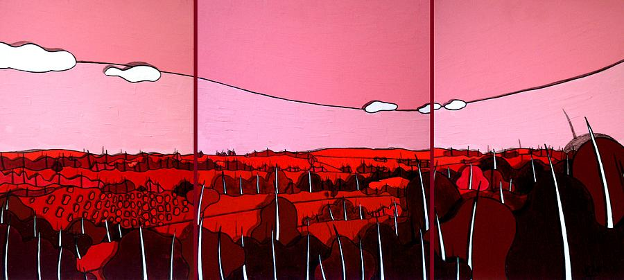 Landscape Painting - Red Tuscan Longview by Jason Charles Allen