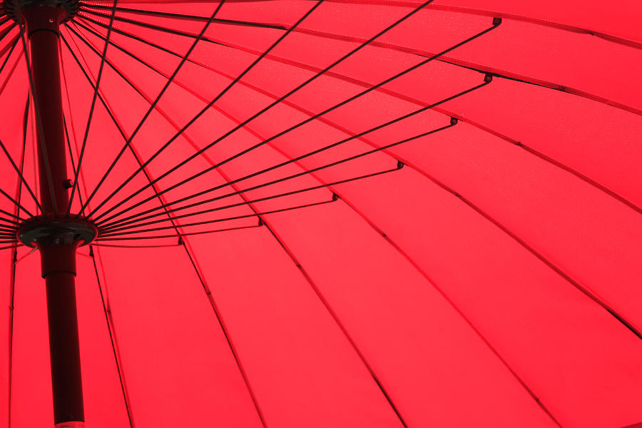Red Photograph - Red Umbrella Abstract by Tony Grider