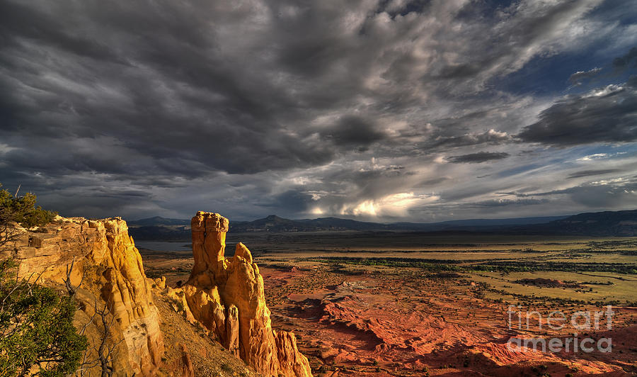 Mountains Photograph - Red Valley by Brian Spencer