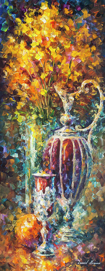 Painting Painting - Red Vase by Leonid Afremov