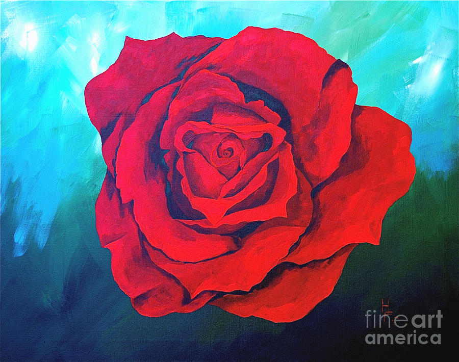 Red Velvet Painting by Herschel Fall
