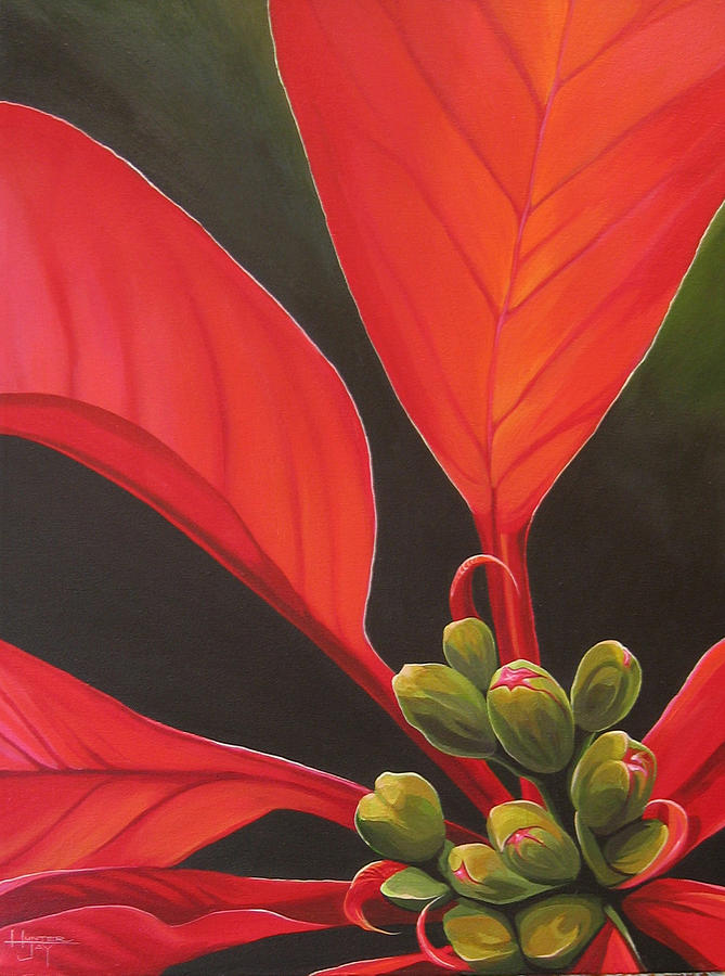 Red Velvet Painting by Hunter Jay