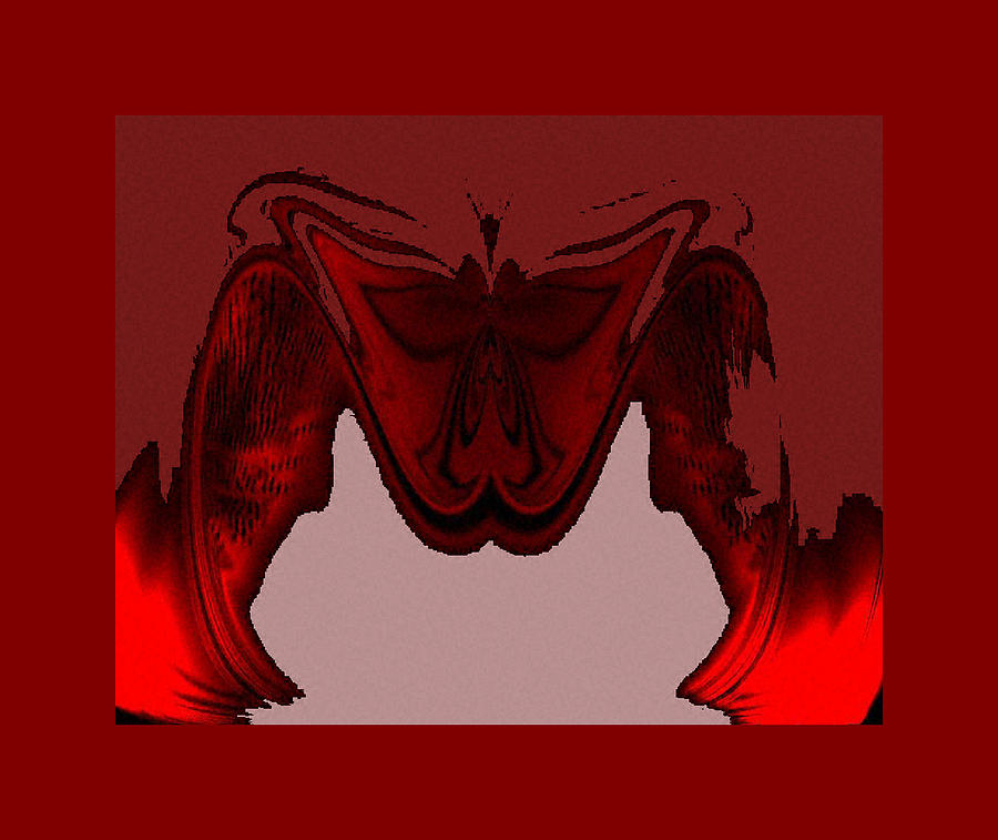 Digital Digital Art - Red Vision by Ilona Burchard