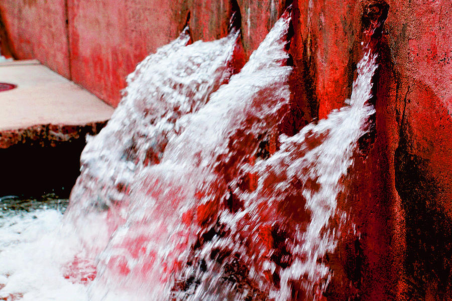 Waterfall Photograph - Red Water by William Hall