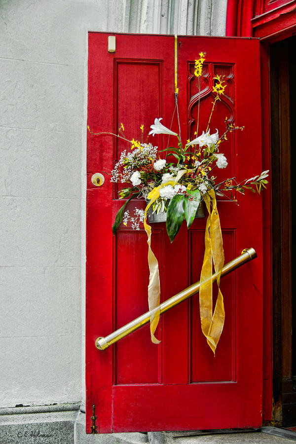 Door Photograph - Red Welcome by Christopher Holmes