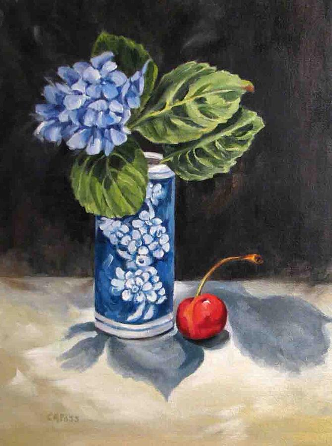 Still Life Painting - Red White And Blue by Cheryl Pass
