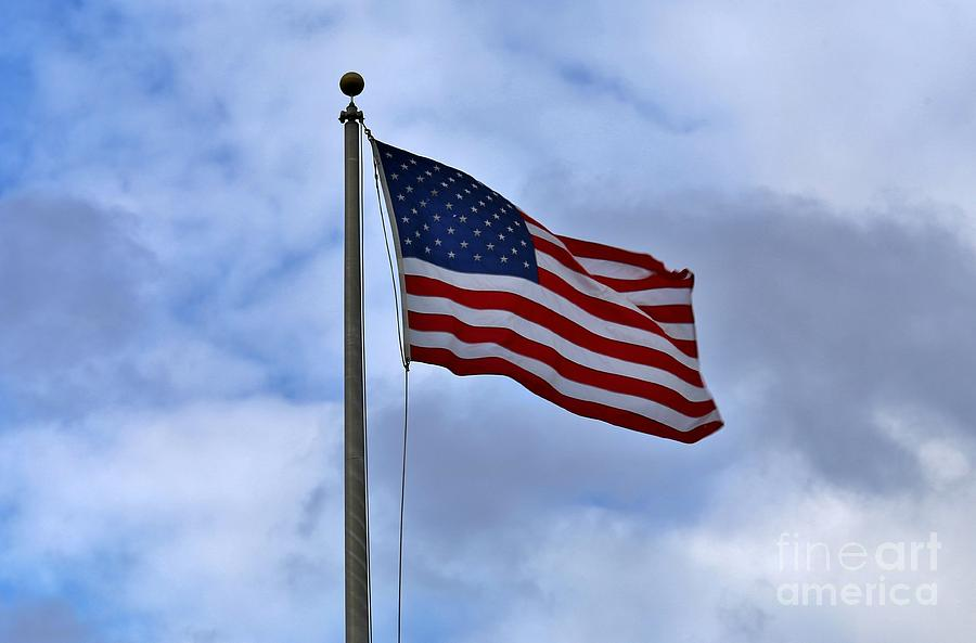 Patriotism Photograph - Red White And Blue by Douglas Sacha