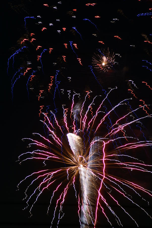 Fireworks Photograph - Red White And Blue by Heather Green