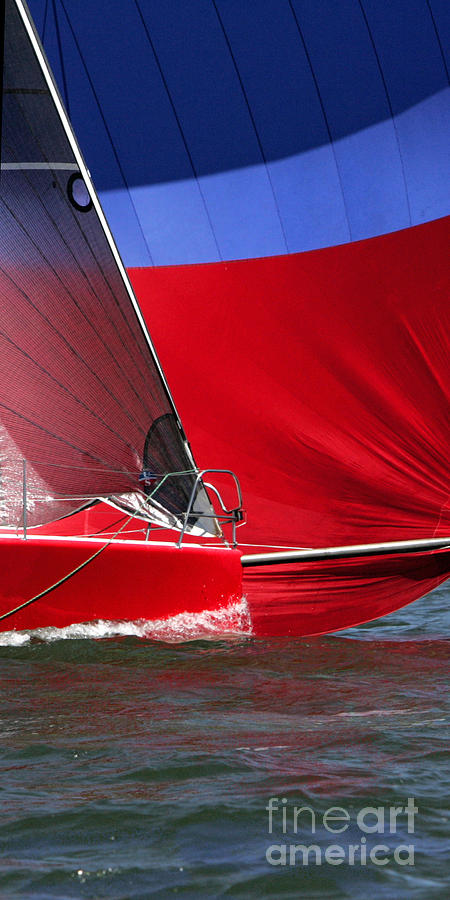 Sailboat Photograph - Red White Blue And Water by Sandy Byers