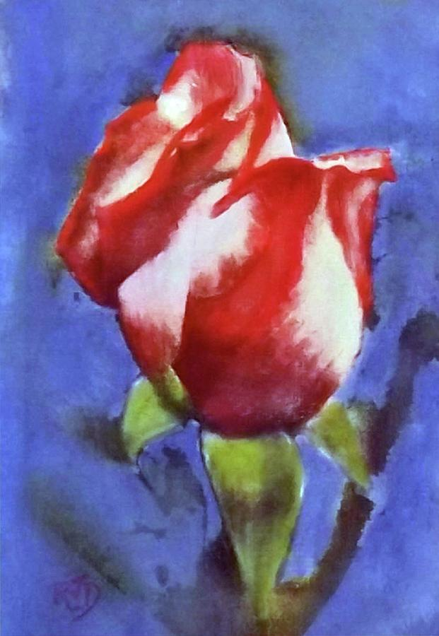 Red White Blue Patriotic Rose Painting
