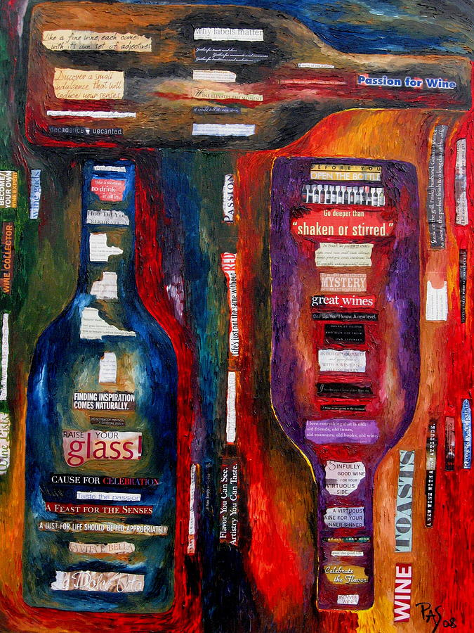 Wine Painting - Red White Whatever by Patti Schermerhorn