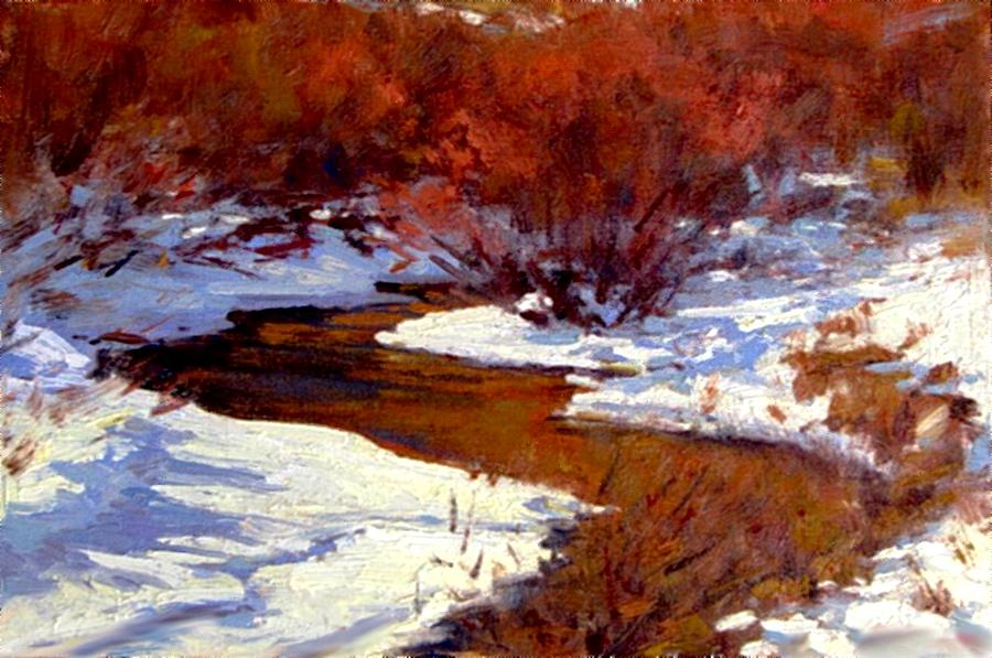 Red Willow Creek Painting by Joseph Barani