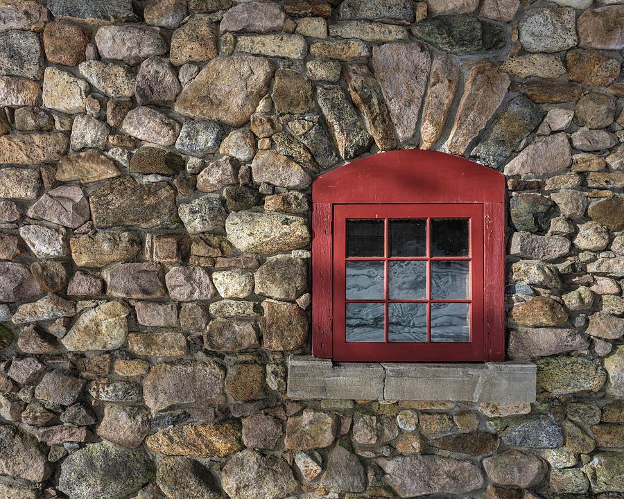 Window Photograph - Red Window by Brad Wenskoski