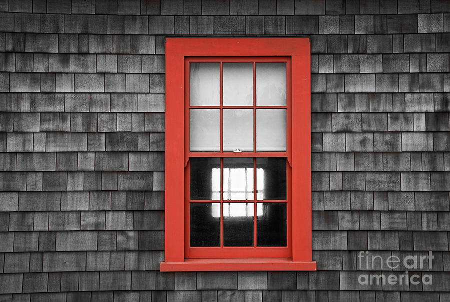 RED WINDOW FRAME by Alice Cahill
