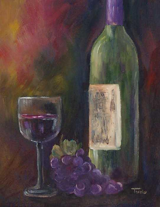 Grapes Painting - Red Wine - SOLD by Torrie Smiley