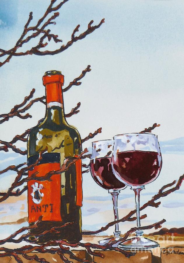Red Wine in Winter by CHERYL EMERSON ADAMS