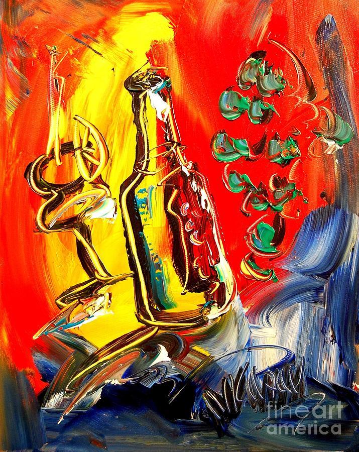 Red Wine  Digital Art by Mark Kazav